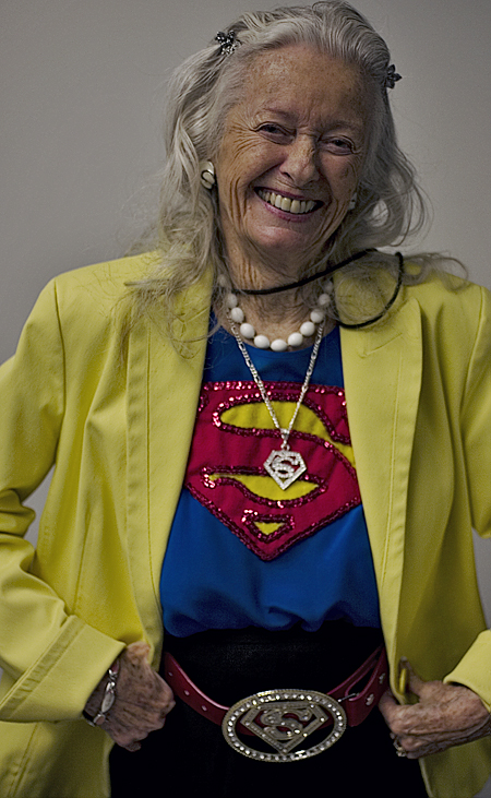 Noel Neill, the woman to play Lois Lane on screen. WonderCon 2008, San Francisco. Seth Rosenblatt (c) 2008.