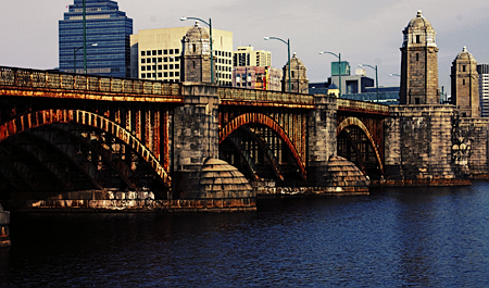 The Longfellows Bridge, from Cambridge, MA. Seth Rosenblatt (c) 2007.