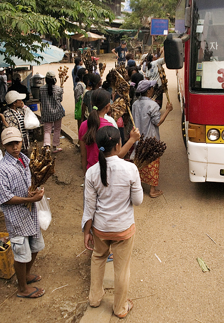 Roadside vendors, Route 9 to Savannakhet, Laos. Seth Rosenblatt (c) 2006.