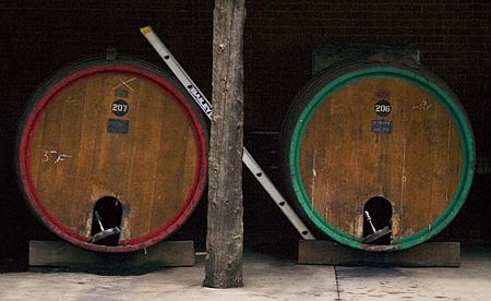 Wine barrels at Chambers Rosewood Winery, Rutherglen, Victoria, Australia. Seth Rosenblatt (c) 2005.