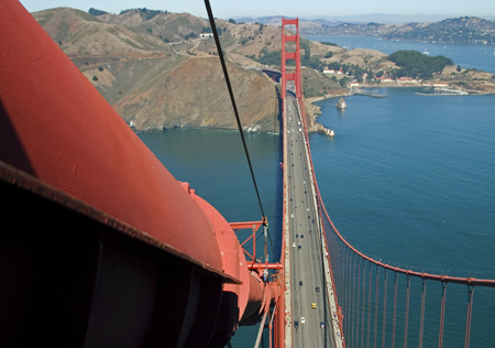 The North Tower and points beyond, Golden Gate Bridge, San Francisco, CA. Seth Rosenblatt (c) 2006.